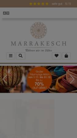 Vorschau der mobilen Webseite www.marrakesch-shop.de, Galerie Marrakesch