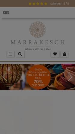 Vorschau der mobilen Webseite www.marrakesch-galerie.de, Galerie Marrakesch