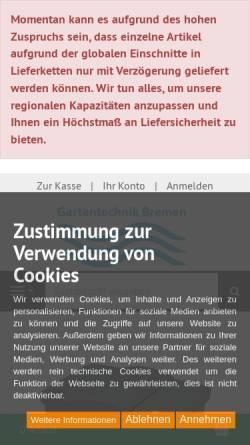 Vorschau der mobilen Webseite www.oase-technik.de, Gartentechnik Bremen e.K.