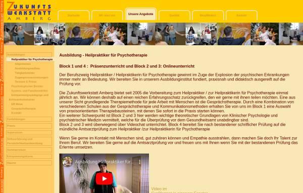 Vorschau von www.zukunftswerkstatt-amberg.de, Zukunftswerkstatt Amberg i. d. Oberpfalz