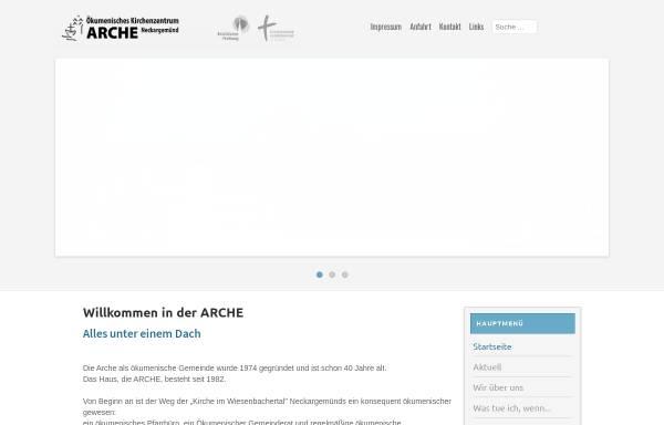 Vorschau von www.arche-neckargemuend.de, Ökumenisches Kirchenzentrum Arche Neckargemünd