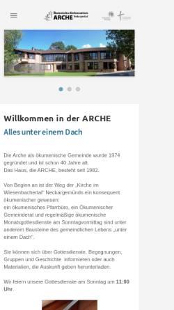 Vorschau der mobilen Webseite www.arche-neckargemuend.de, Ökumenisches Kirchenzentrum Arche Neckargemünd