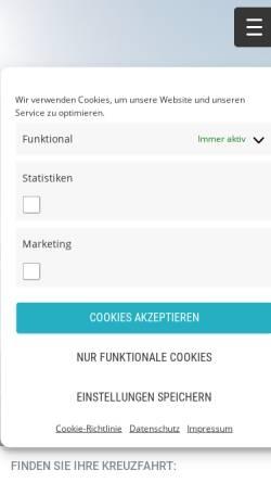 Vorschau der mobilen Webseite www.polaris-tours.de, Polaris Tours GmbH