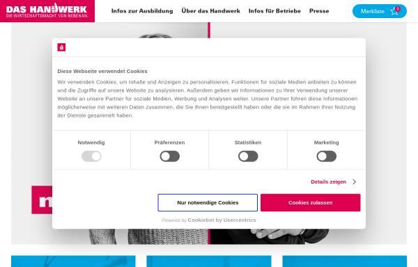 Vorschau von www.handwerk.de, Handwerk.de - DVN Deutsche Vergabenetz GmbH