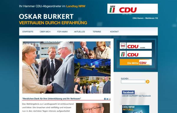 Vorschau von www.oskar-burkert.cdu-nrw.de, Burkert, Oskar (MdL)