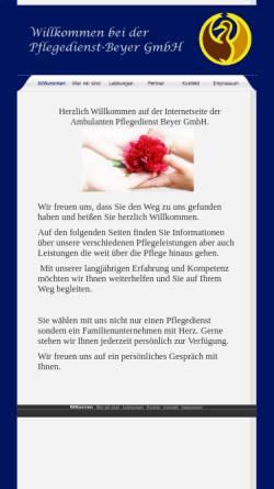 Vorschau der mobilen Webseite www.pflegedienst-beyer.de, Pflegedienst Beyer GmbH