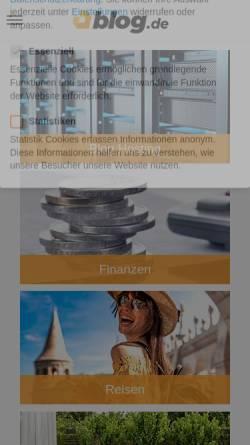 Vorschau der mobilen Webseite webfrank.blog.de, webfrank - aktiv Leben mit Behinderung.