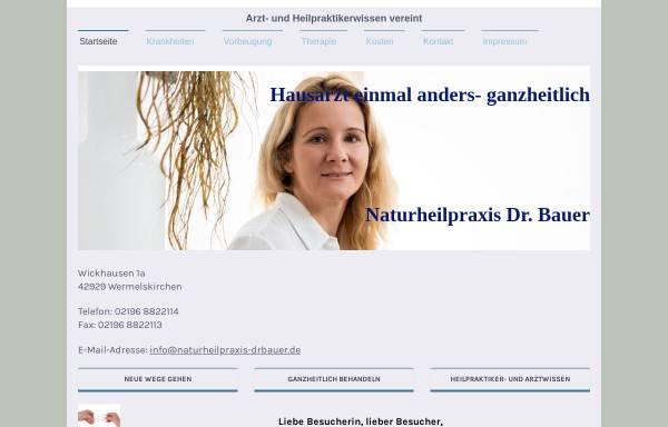 Vorschau von www.naturheilpraxis-drbauer.de, Dr. med. Gabriele Bauer