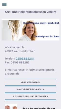 Vorschau der mobilen Webseite www.naturheilpraxis-drbauer.de, Dr. med. Gabriele Bauer