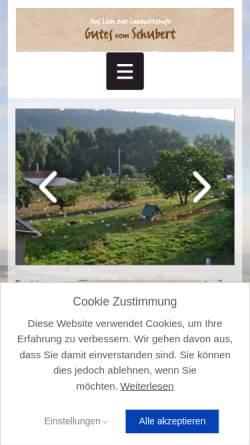 Vorschau der mobilen Webseite www.gefluegelhof-schubert.com, Geflügelhof Schubert