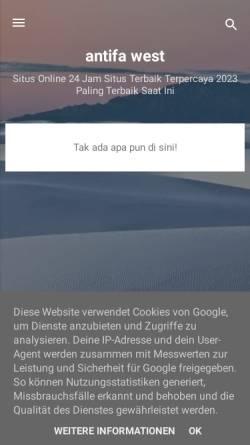 Vorschau der mobilen Webseite www.antifa-west.org, Antifa-West