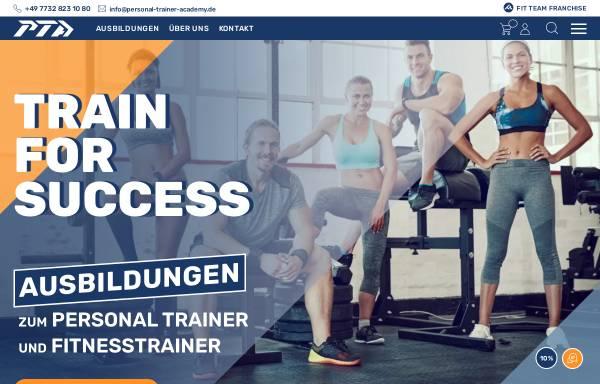 Vorschau von www.personal-trainer-ausbildungen.de, Personal Trainer Academy