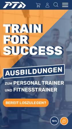Vorschau der mobilen Webseite www.personal-trainer-ausbildungen.de, Personal Trainer Academy