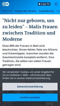 Vorschau der mobilen Webseite www.dw.de,