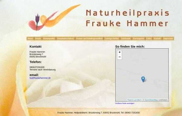 Vorschau von www.fraukehammer.de, Naturheilpraxis Frauke Hammer