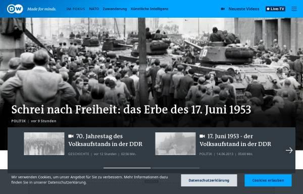 Vorschau von www.dw.com, Deutsche Welle