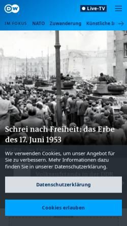 Vorschau der mobilen Webseite www.dw.com, Deutsche Welle
