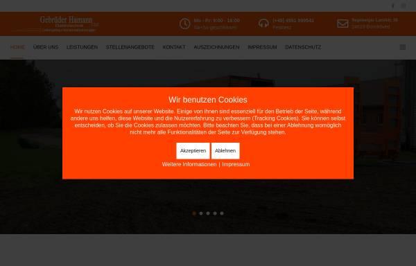 Vorschau von www.gebrueder-hamann.com, Gebrüder Hamann GbR