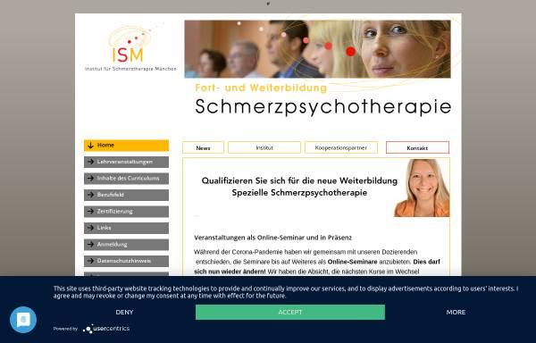 Vorschau von institut-ism.de, ISM - Institut für Schmerzpsychotherapie München