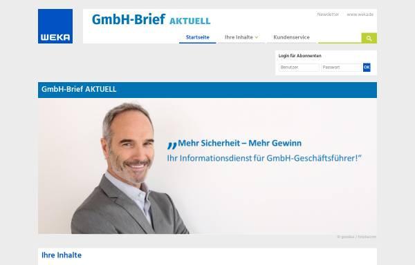 Vorschau von www.gmbh-brief.de, GmbH-Brief by GWI, Weka Media GmbH & Co. KG