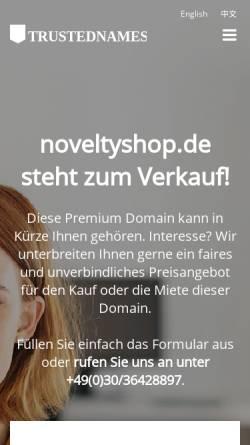 Vorschau der mobilen Webseite www.noveltyshop.de, Novelty GmbH