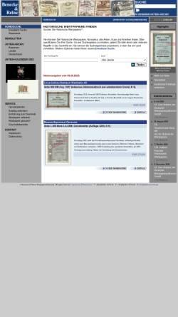 Vorschau der mobilen Webseite www.aktiensammler.de, Aktien-Gesellschaft für Historische Wertpapiere