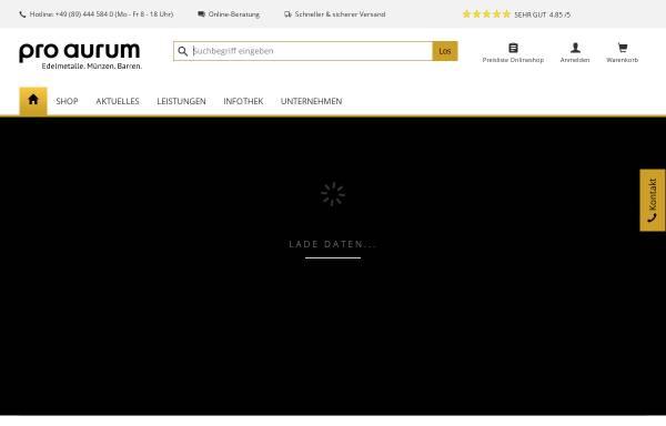 Vorschau von www.proaurum.de, Pro Aurum OHG