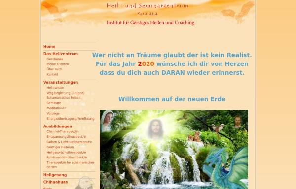 Vorschau von kirajana.de, Heil- und Seminarzentrum Kirajana