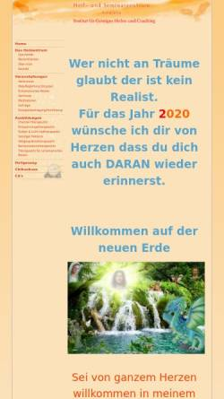 Vorschau der mobilen Webseite kirajana.de, Heil- und Seminarzentrum Kirajana