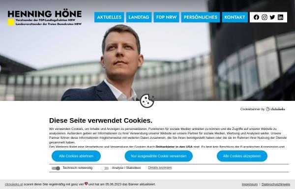 Vorschau von www.henning-hoene.de, Höne, Henning (MdL)