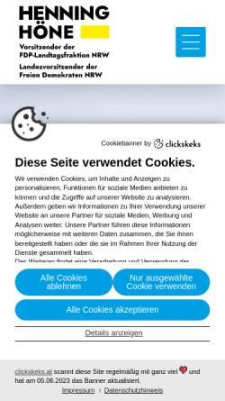 Vorschau der mobilen Webseite www.henning-hoene.de, Höne, Henning (MdL)