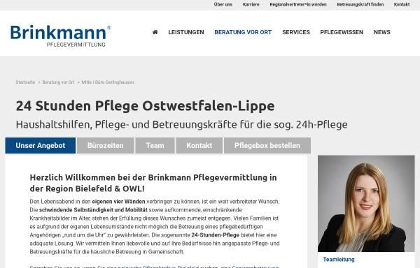 Vorschau von www.brinkmann-pflegevermittlung.de, Brinkmann Pflegevermittlung