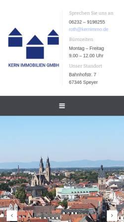 Vorschau der mobilen Webseite www.kernimmo.de, Kern Immobilien GmbH Speyer