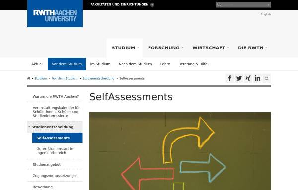 Vorschau von www.rwth-aachen.de, Online-Studienberatungstest für Informatik, Elektrotechnik und Technische Informatik