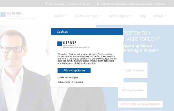 Vorschau von kanzlei-kerner.de, Rechtsanwaltskanzei Kerner