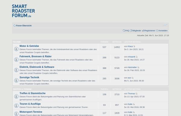 Vorschau von www.smart-roadster-forum.de, smart-roadster-forum.de