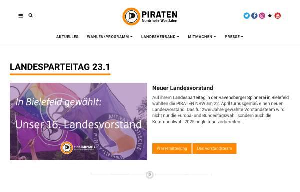 Vorschau von www.piratenpartei-nrw.de, Piratenpartei Deutschland, Landesverband NRW