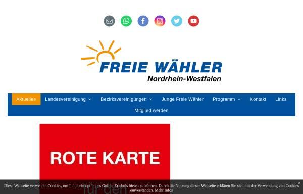 Vorschau von nw.freiewaehler.eu, Freie Wähler Landesvereinigung Nordrhein-Westfalen