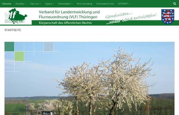 Vorschau von www.vlf-thueringen.de, Verband für Landentwicklung und Flurneuordnung (VLF) Thüringen