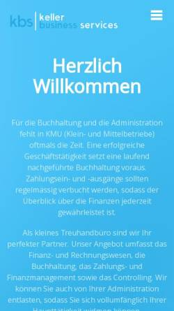 Vorschau der mobilen Webseite www.kbsk.ch, kbs keller business services