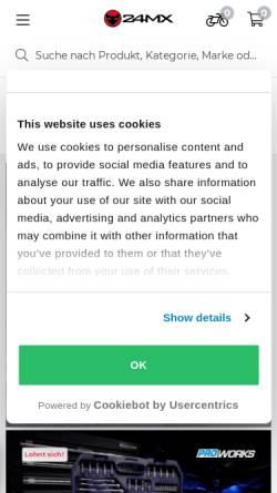 Vorschau der mobilen Webseite www.24mx.de, 24MX - You ride it, we provide it!