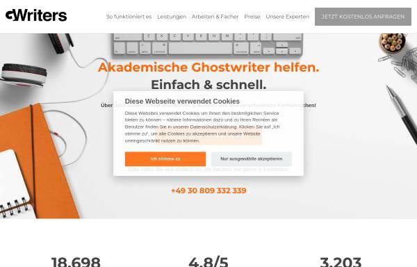 Vorschau von gwriters.de, GWriters - Portal für akademische Freelancer (Lektoren, Korrekturen, Autoren, Übersetzer)