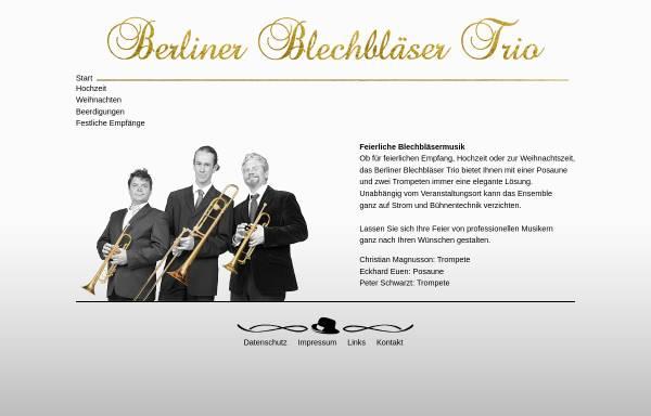 Vorschau von www.blechblaesertrio-berlin.de, Berliner Blechbläser Trio