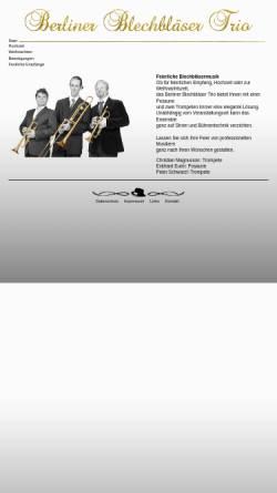 Vorschau der mobilen Webseite www.blechblaesertrio-berlin.de, Berliner Blechbläser Trio