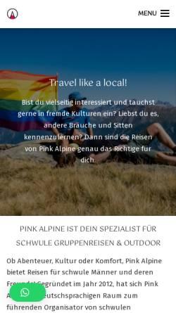 Vorschau der mobilen Webseite www.pinkalpine.ch, Pink Alpine