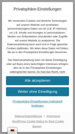 Vorschau der mobilen Webseite www.volkner-mobil.com, Volkner Mobil GmbH