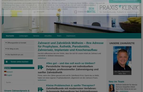 Vorschau von praxisklinik-ruhrgebiet.de, Praxisklinik Ruhrgebiet Metz - Heller - Alfers