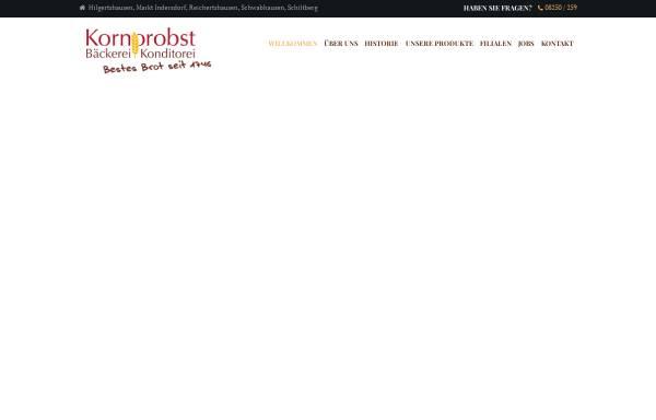 Vorschau von www.baeckerei-kornprobst.de, Bäckerei Georg Kornprobst