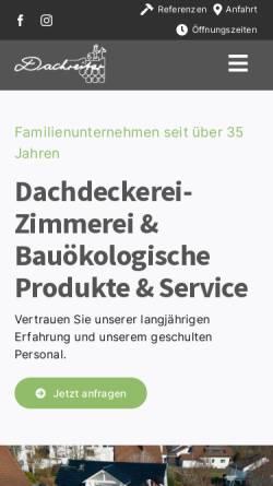 Vorschau der mobilen Webseite www.dachreiter-gmbh.de, Dachreiter GmbH