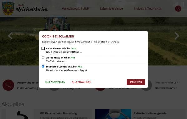 Vorschau von www.stadt-reichelsheim.de, Stadt Reichelsheim